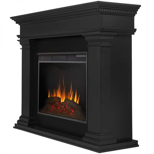 Antero Grand Electric Fireplace in Black by Real Flame 4