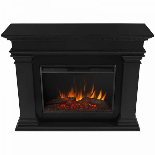 Antero Grand Electric Fireplace in Black by Real Flame 5