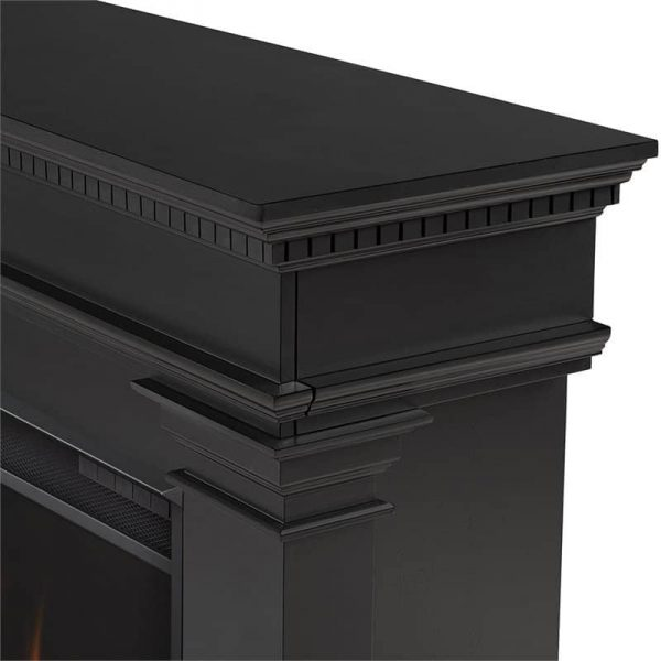 Antero Grand Electric Fireplace in Black by Real Flame 6