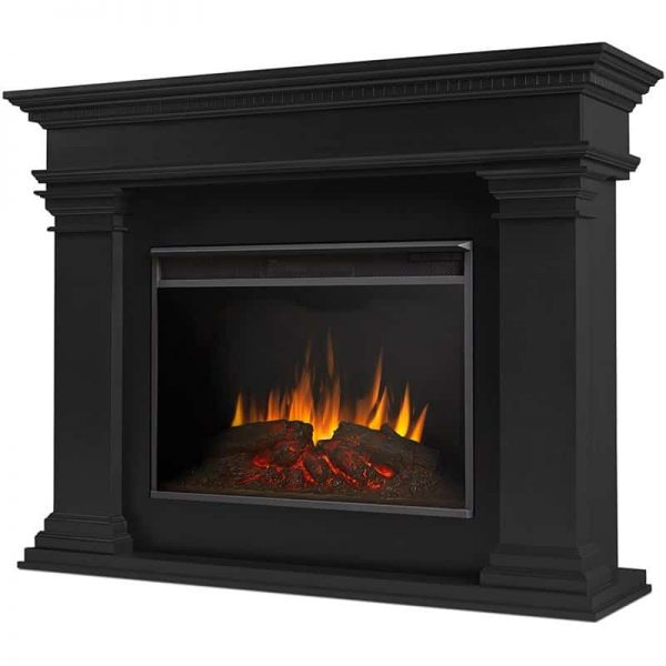 Antero Grand Electric Fireplace in Black by Real Flame
