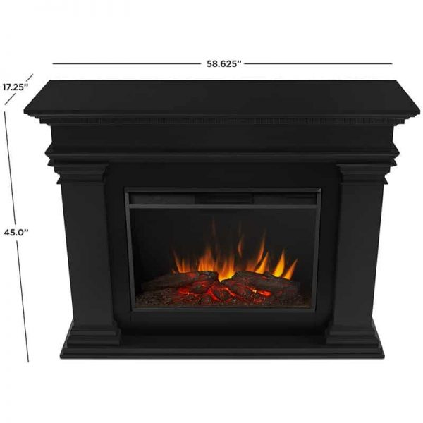 Antero Grand Electric Fireplace in Black by Real Flame 7