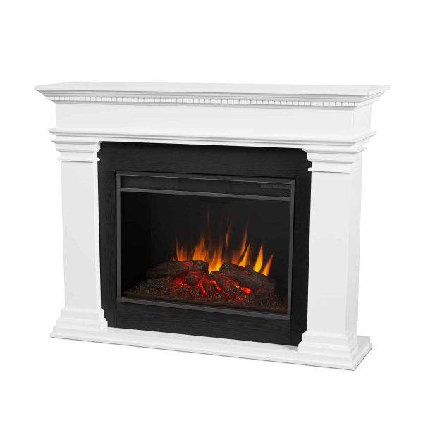 Antero Grand Electric Fireplace in White by Real Flame 1