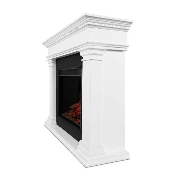 Antero Grand Electric Fireplace in White by Real Flame 2