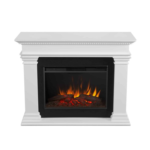 Antero Grand Electric Fireplace in White by Real Flame 3