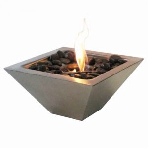 Anywhere Fireplace 90295 Empire Indoor Outdoor Fireplace with Polished Black Rocks