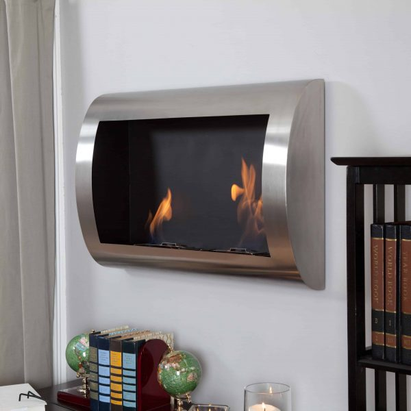 Anywhere Fireplace Chelsea Stainless Steel Indoor Fireplace