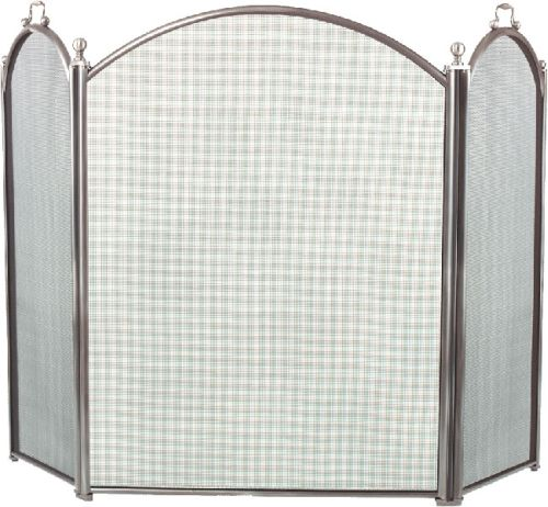 Arched 3 Fold Pewter Screen - 34 inch