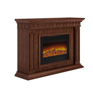 Argo L40S13 Electric Fireplace - Brown