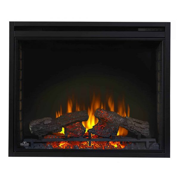 Ascent 33 9000 BTU Home Living Room Built In Electric Fireplace Insert Heater 5