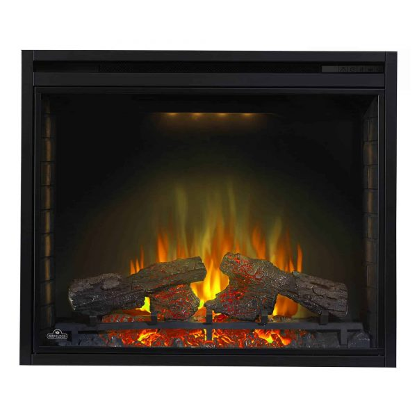 Ascent 33 9000 BTU Home Living Room Built In Electric Fireplace Insert Heater 6