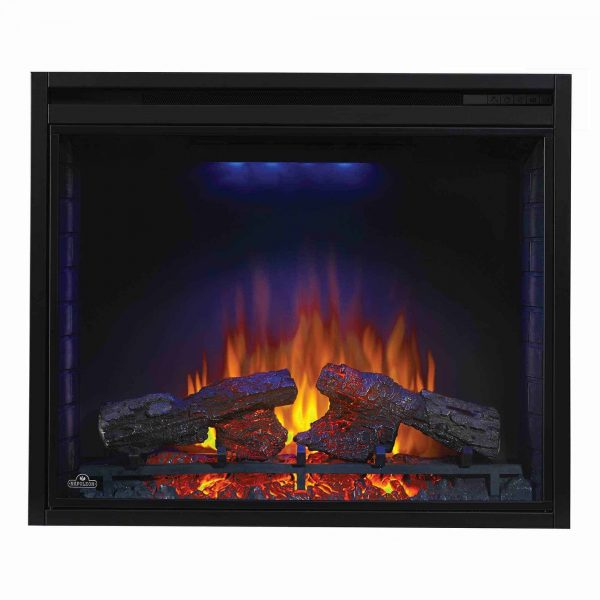 Ascent 33 9000 BTU Home Living Room Built In Electric Fireplace Insert Heater 7