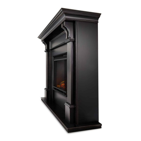 Ashley Indoor Electric Fireplace in Black Wash by Real Flame 1