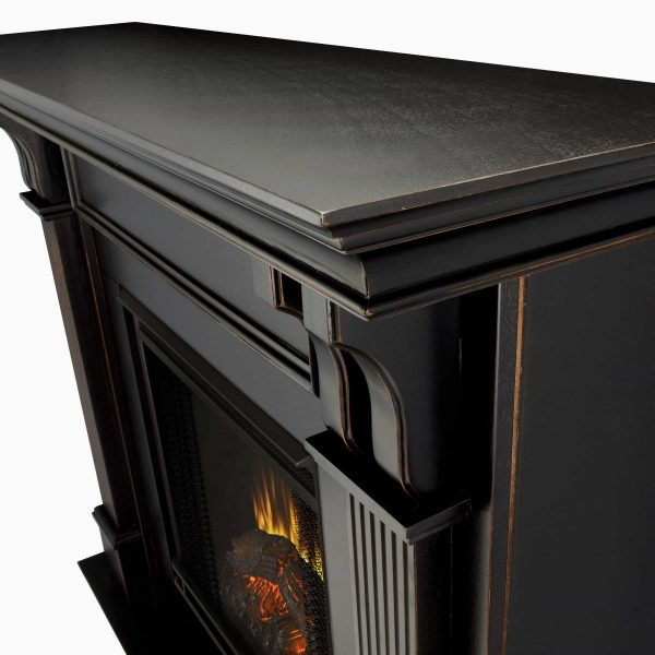 Ashley Indoor Electric Fireplace in Black Wash by Real Flame 2