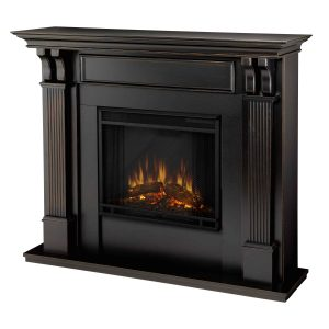 Ashley Indoor Electric Fireplace in Black Wash by Real Flame