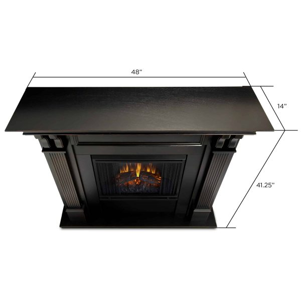 Ashley Indoor Electric Fireplace in Black Wash by Real Flame 4
