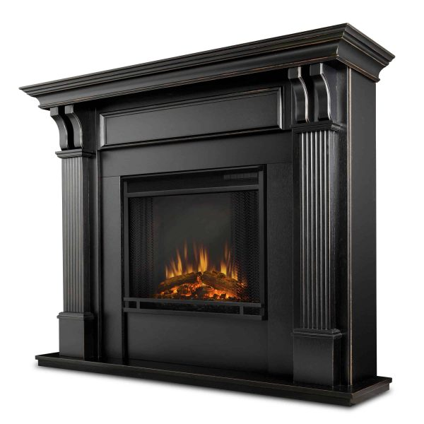 Ashley Indoor Electric Fireplace in White by Real Flame 1