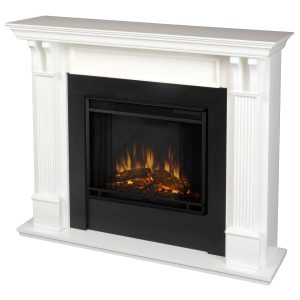 Ashley Indoor Electric Fireplace in White by Real Flame