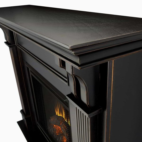 Ashley Indoor Electric Fireplace in White by Real Flame 4