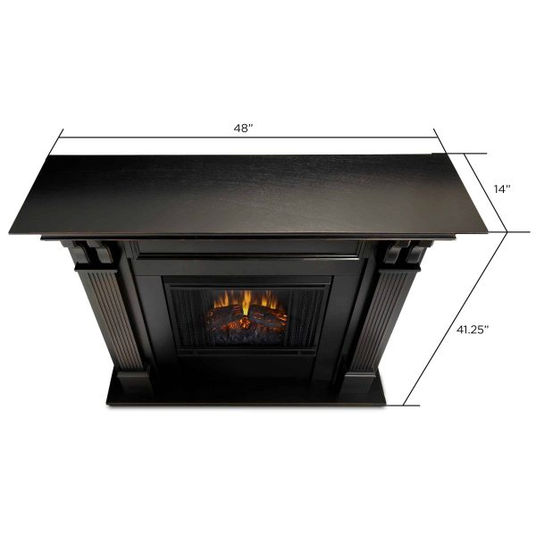 Ashley Indoor Electric Fireplace in White by Real Flame 5
