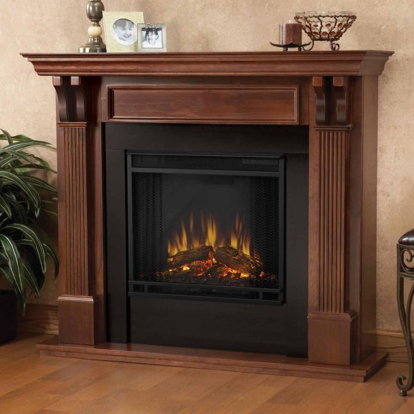 Ashley Indoor Electric Fireplace in White by Real Flame 6