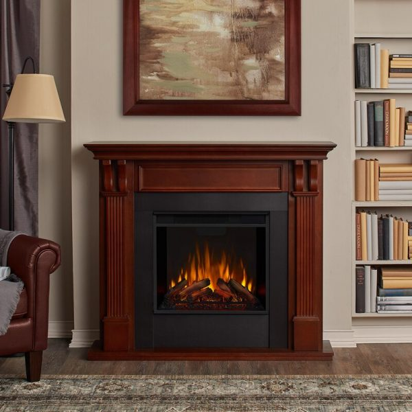 Ashley Indoor Electric Fireplace in Mahogany by Real Flame 1