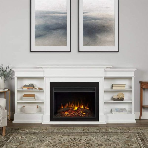 Ashton Grand Media Electric Fireplace by Real Flame 1