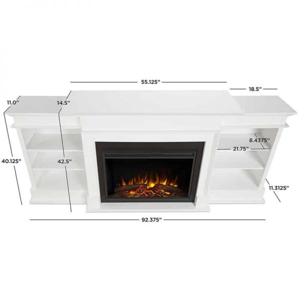 Ashton Grand Media Electric Fireplace by Real Flame 8