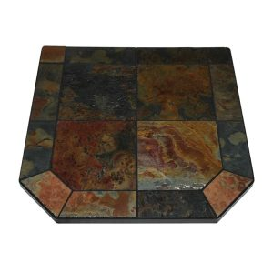 Asian Slate Single Cut Corner Stove Board