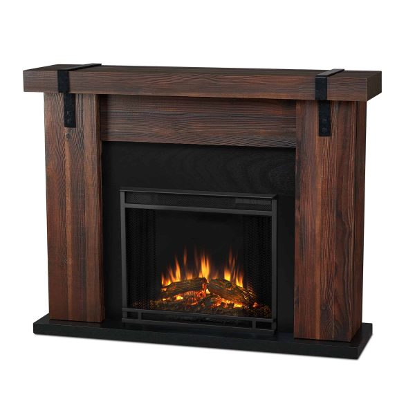 Aspen Electric Fireplace in Chestnut Barnwood by Real Flame 1