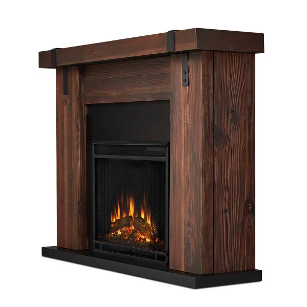 Aspen Electric Fireplace in Chestnut Barnwood by Real Flame 2
