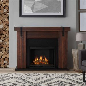 Aspen Electric Fireplace in Chestnut Barnwood by Real Flame