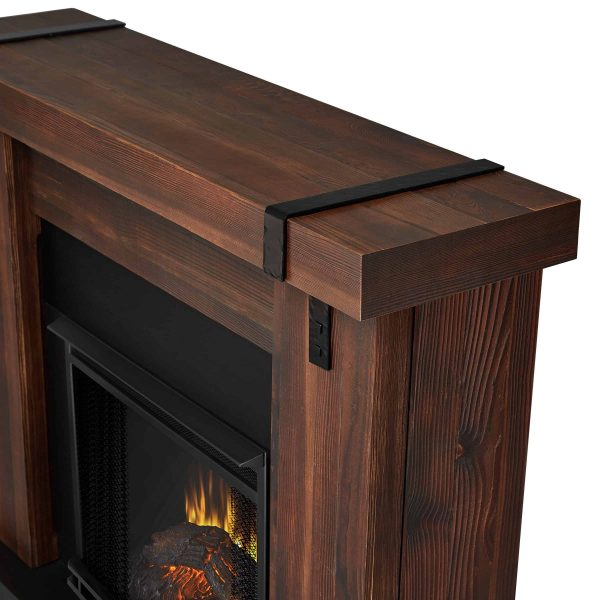 Aspen Electric Fireplace in Chestnut Barnwood by Real Flame 4
