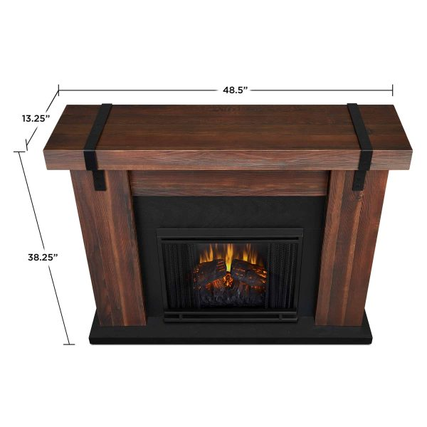 Aspen Electric Fireplace in Chestnut Barnwood by Real Flame 5