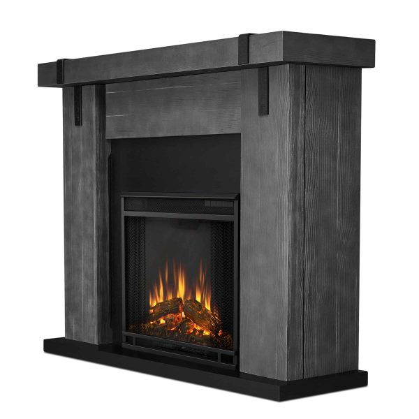 Aspen Electric Fireplace in Gray Barnwood by Real Flame 2