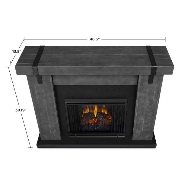 Aspen Electric Fireplace in Gray Barnwood by Real Flame 5