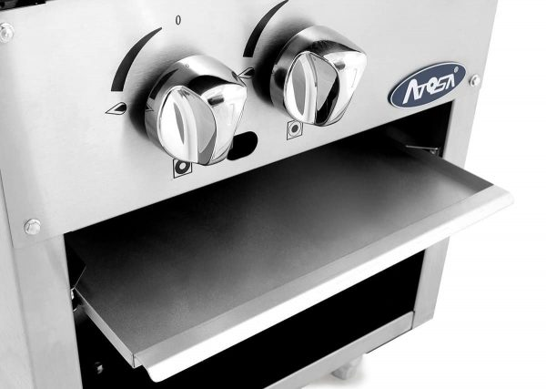 000) Heavy Duty Stainless Steel Stock Pot Stove - Natrual Gas Double Burner