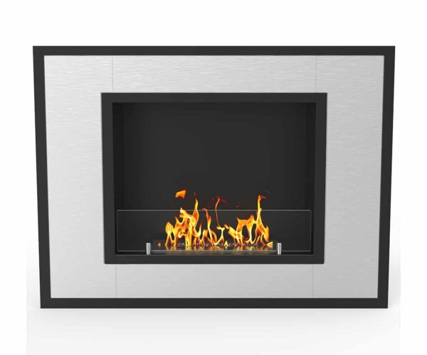 Austin 32 Inch Ventless Built In Recessed Bio Ethanol Wall Mounted Fireplace 1