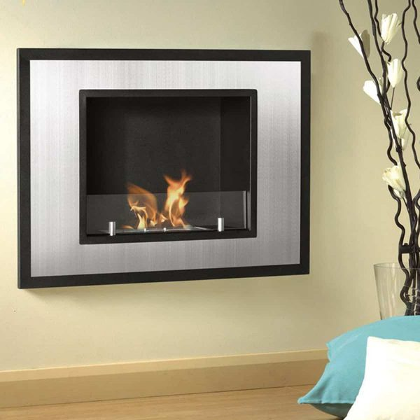 Austin 32 Inch Ventless Built In Recessed Bio Ethanol Wall Mounted Fireplace 3