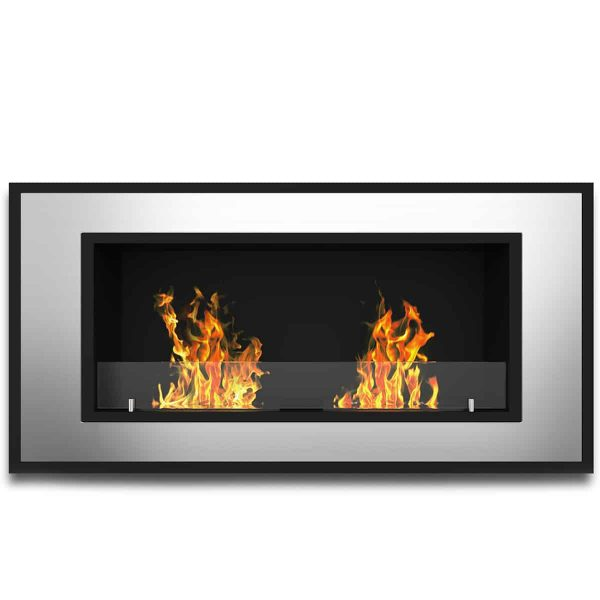 Austin 32 Inch Ventless Built In Recessed Bio Ethanol Wall Mounted Fireplace