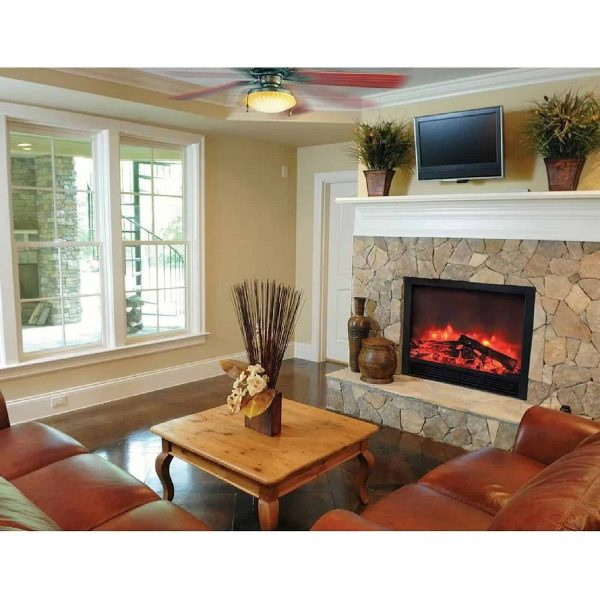 """BLAZE ELECTRIC FIREPLACE INSERT 33""""W X 30""""H X 9""""D WITH REMOTE CONTROL AND 2 SPEED HEATER 1"""
