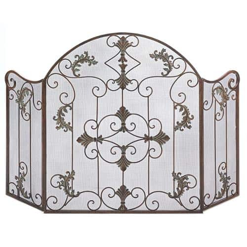 BSD National Supplies Floral 3-Panel Fireplace Screen 1