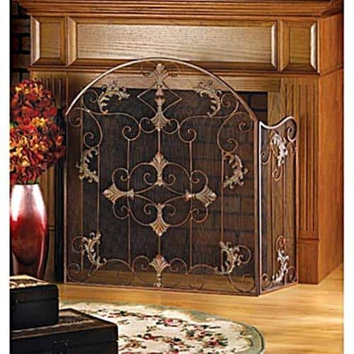 BSD National Supplies Floral 3-Panel Fireplace Screen