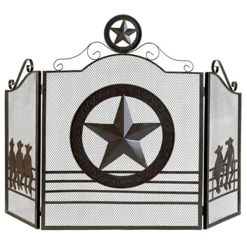 BSD National Supplies Texas Style Iron Fireplace Screen 1