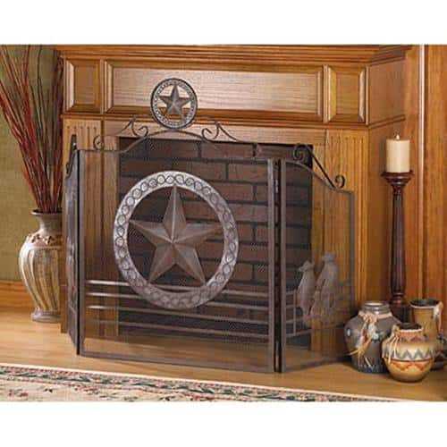 BSD National Supplies Texas Style Iron Fireplace Screen