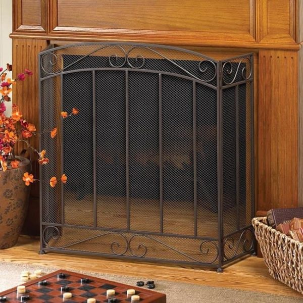 BSD National Supplies Traditional and Classy 3-Panel Fireplace Screen 1