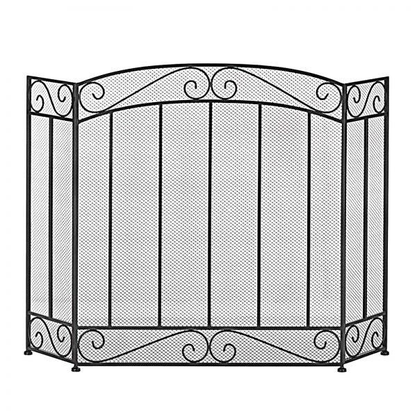 BSD National Supplies Traditional and Classy 3-Panel Fireplace Screen 2