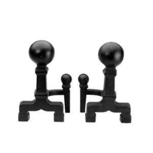 Ball Andirons - Black