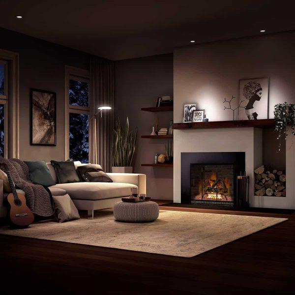 Barton 18-inch Fireplace Log Grate Split Oak Vent Free Natural Gas ANSI Certified Burner Adjustable Flame 1