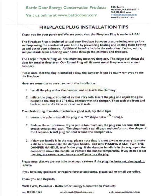 Battic Door Rectangular Inflatable Fireplace Balloon Plug 1