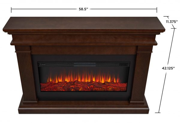 Beau Electric Fireplace in Dk Walnut by Real Flame 5